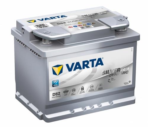 VARTA D52 Silver Dynamic AGM, лучшие акб